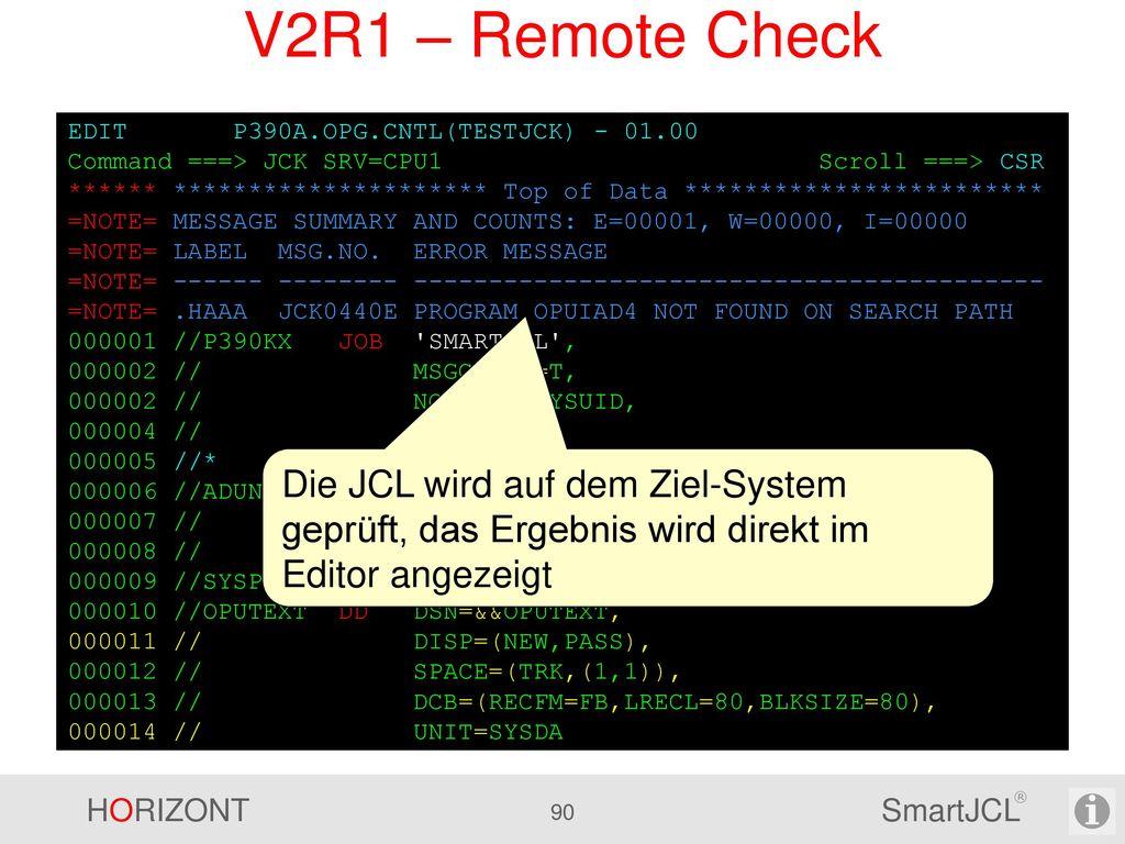 V2R1 – Remote Check Batch Mode