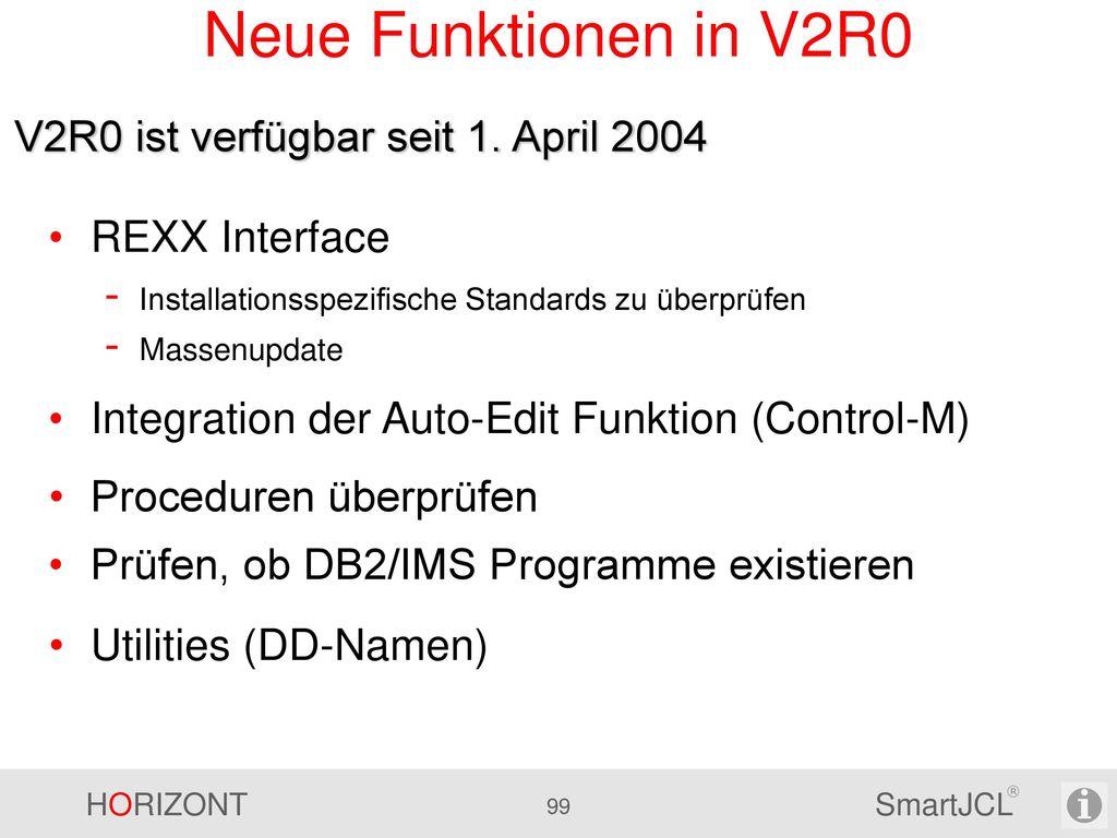 V2R1 – Sonstige Neuerungen 5