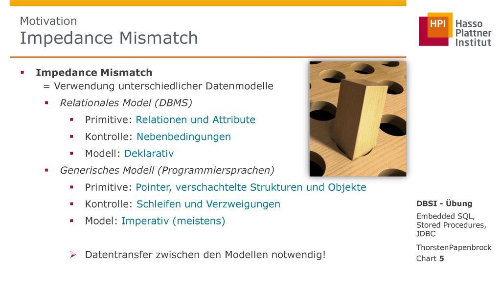 Motivation Impedance Mismatch