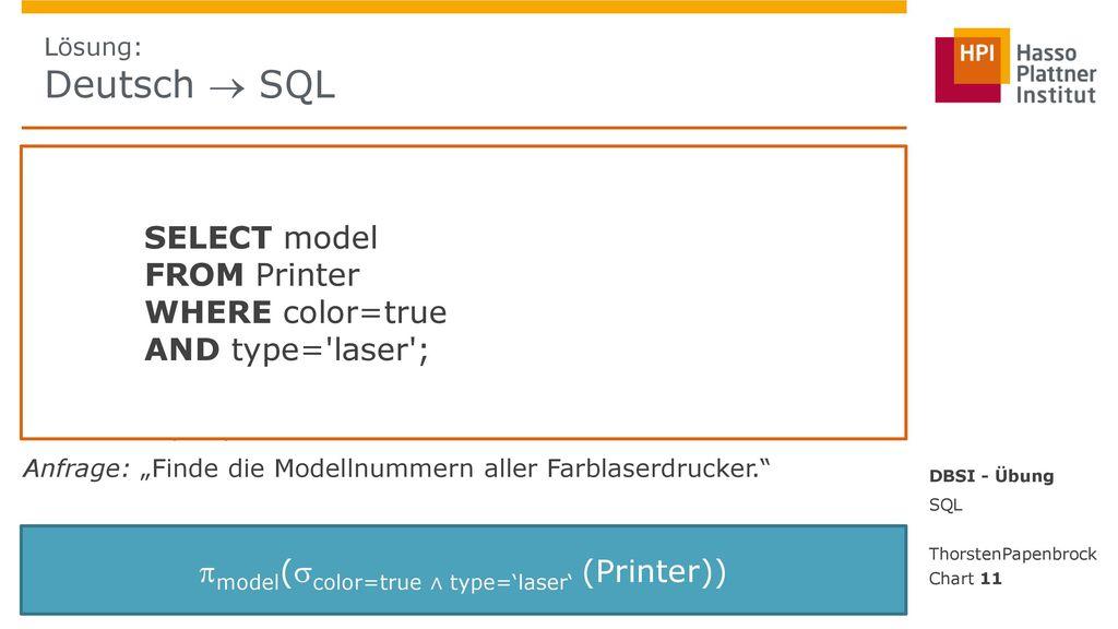 model(color=true ∧ type='laser' (Printer))