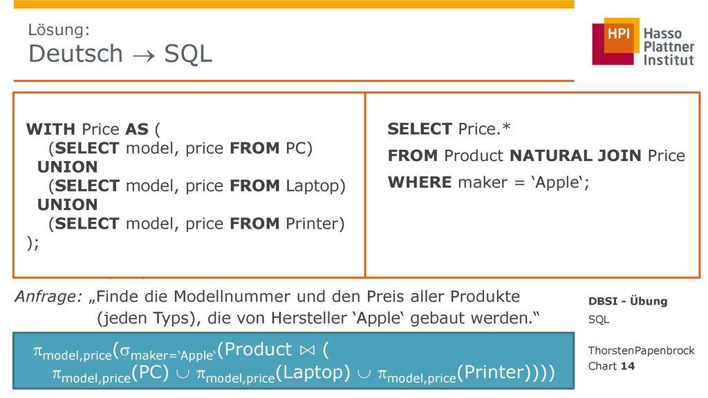 model,price(maker='Apple'(Product ⋈ (