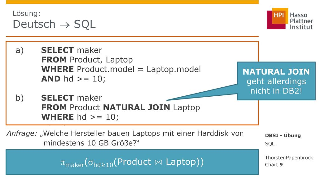 maker(hd≥10(Product ⋈ Laptop))