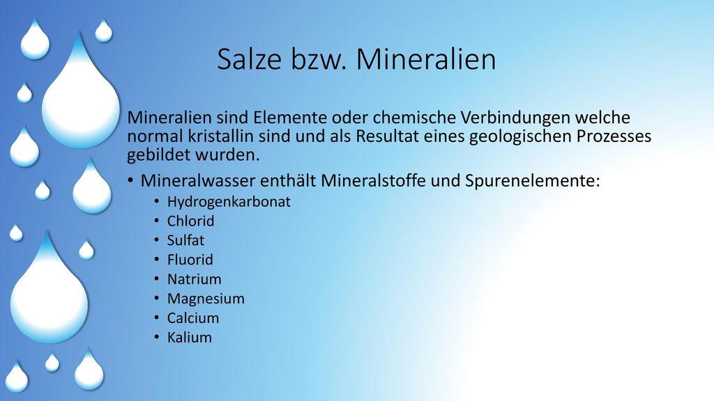 Salze bzw. Mineralien