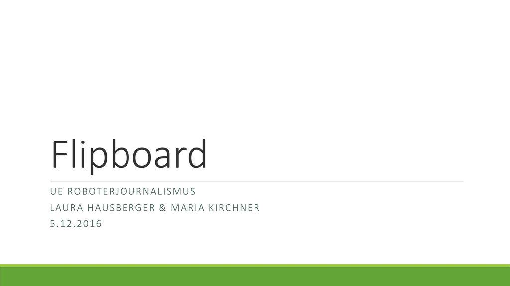 UE Roboterjournalismus Laura Hausberger & Maria Kirchner 5.12.2016