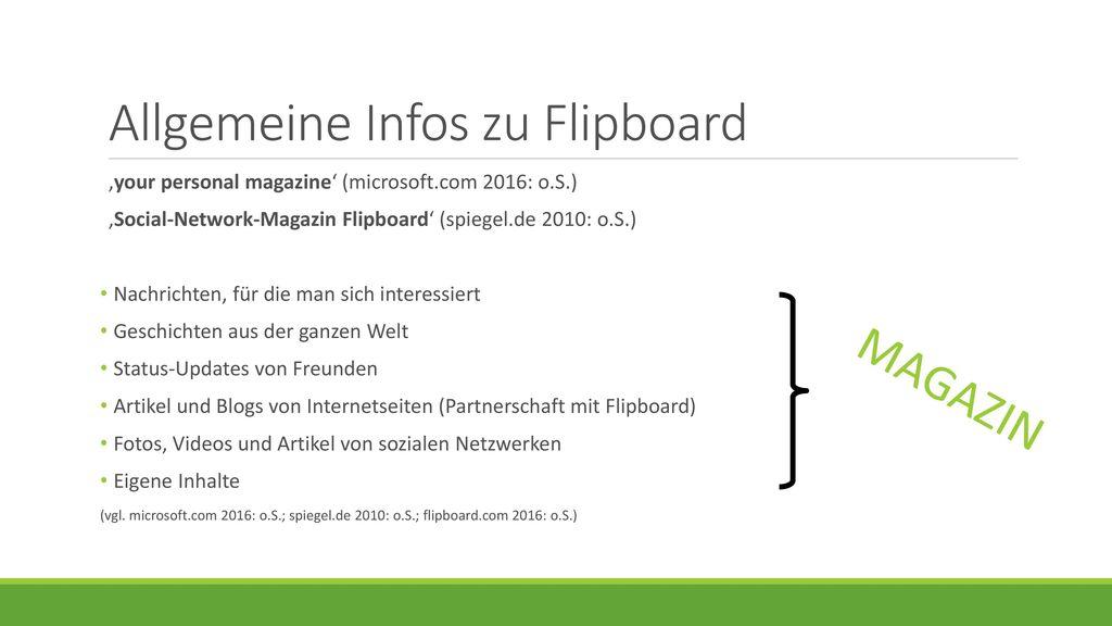 Allgemeine Infos zu Flipboard