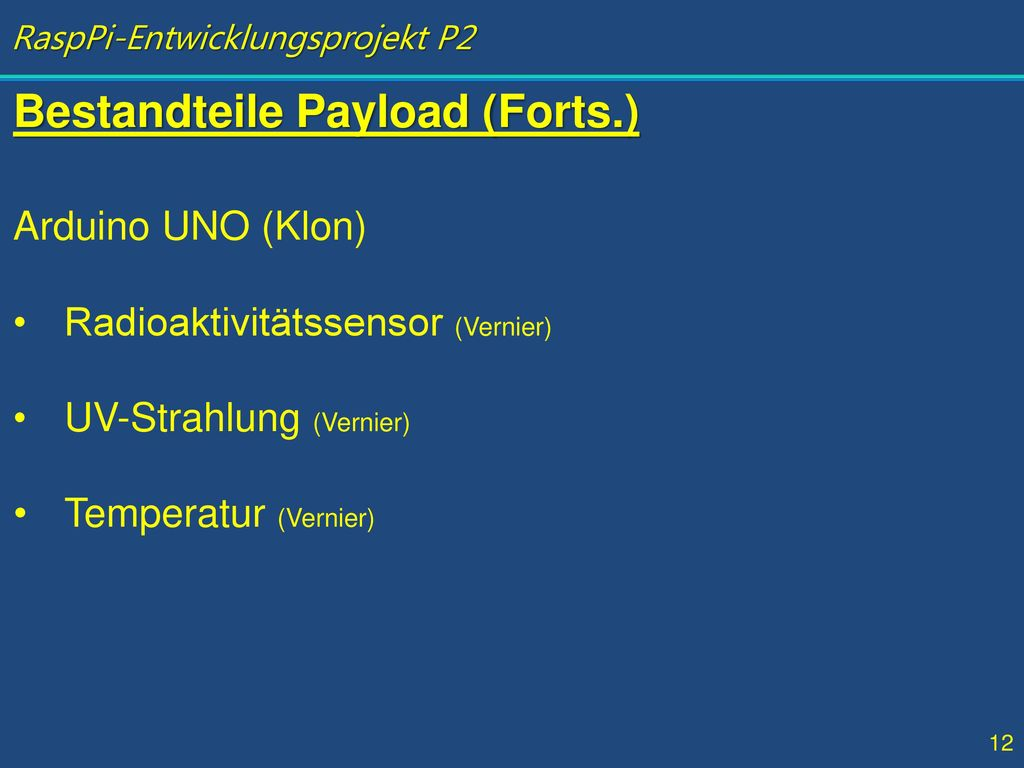 Bestandteile Payload (Forts.)