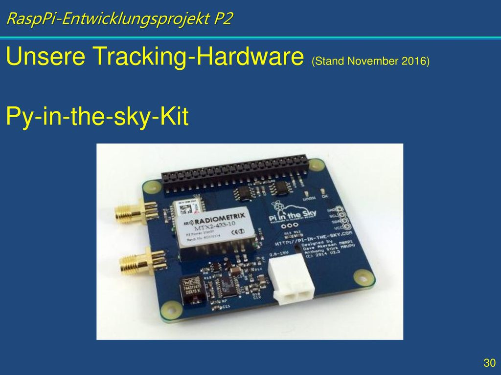 Unsere Tracking-Hardware (Stand November 2016)