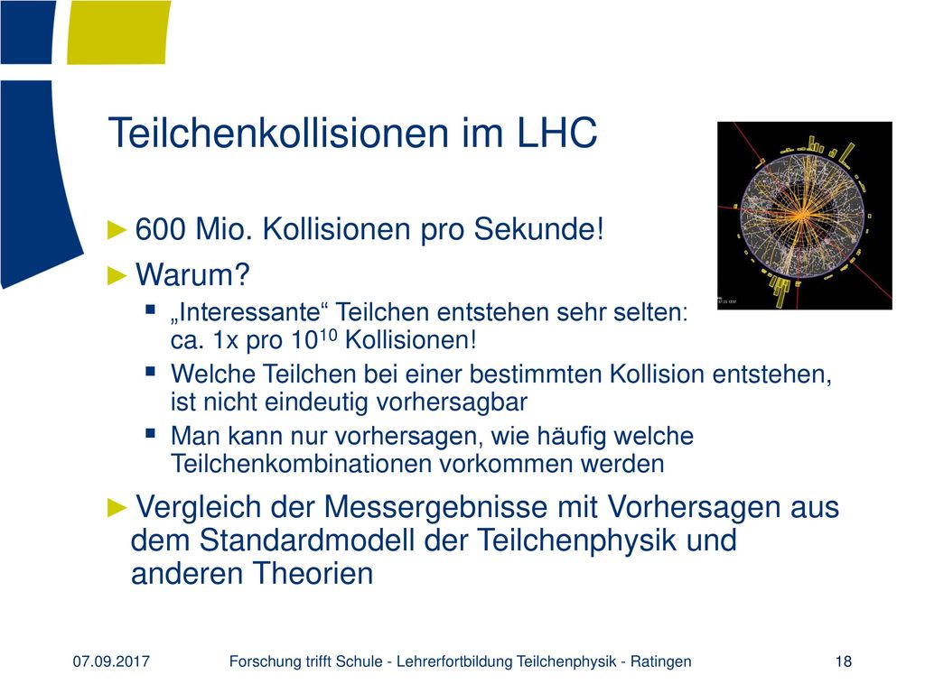 Teilchenkollisionen im LHC