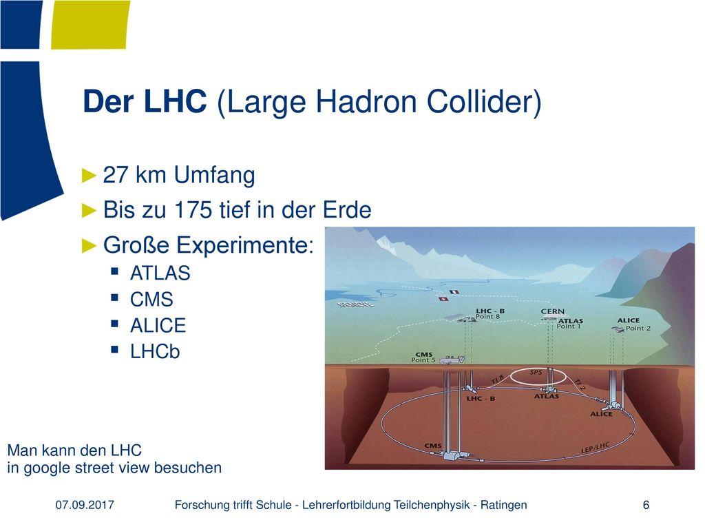 Der LHC (Large Hadron Collider)