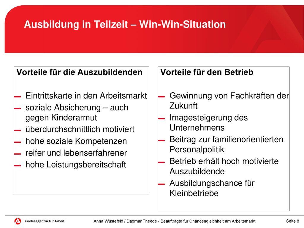 Ausbildung in Teilzeit – Win-Win-Situation