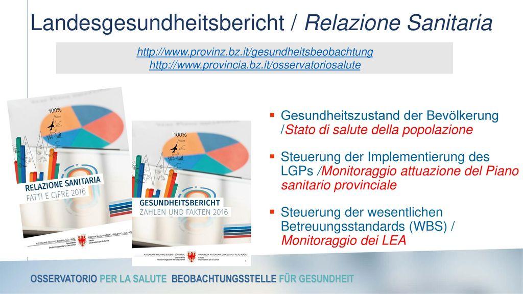 Landesgesundheitsbericht / Relazione Sanitaria