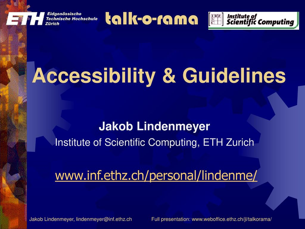 Accessibility & Guidelines