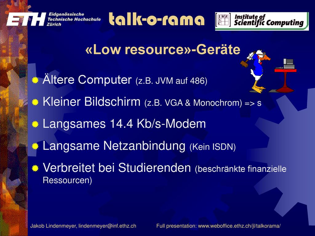 «Low resource»-Geräte