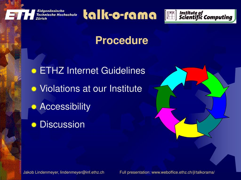 Procedure ETHZ Internet Guidelines Violations at our Institute
