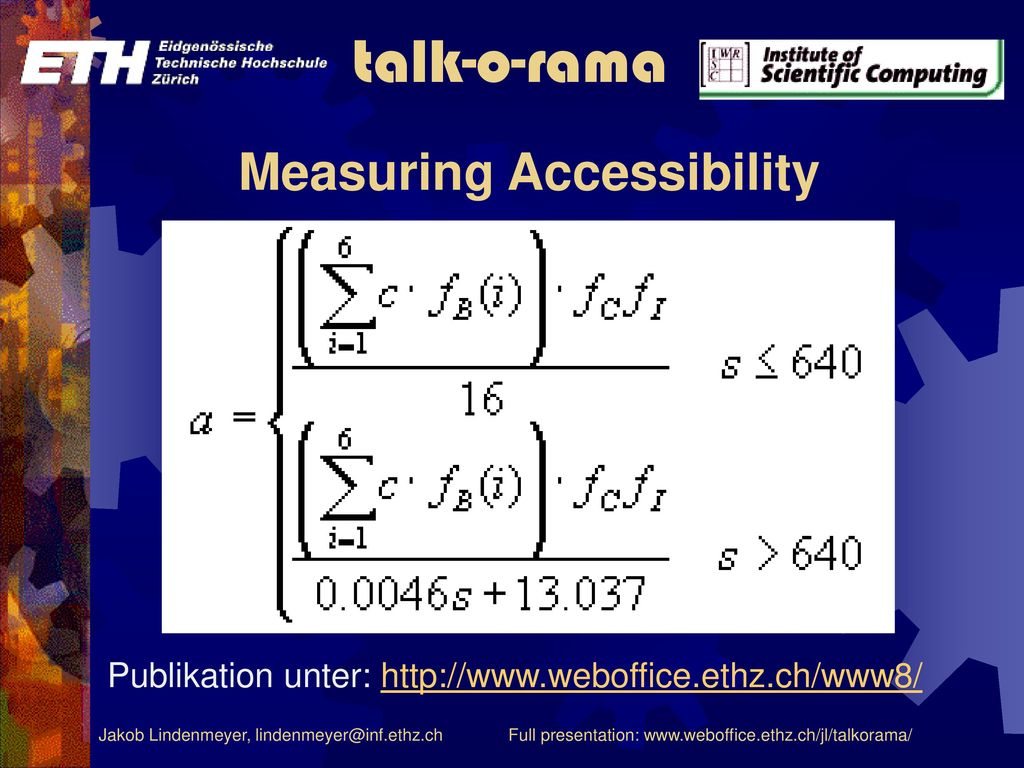 Measuring Accessibility