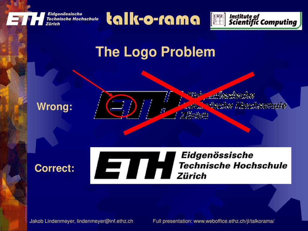The Logo Problem Wrong: Correct: