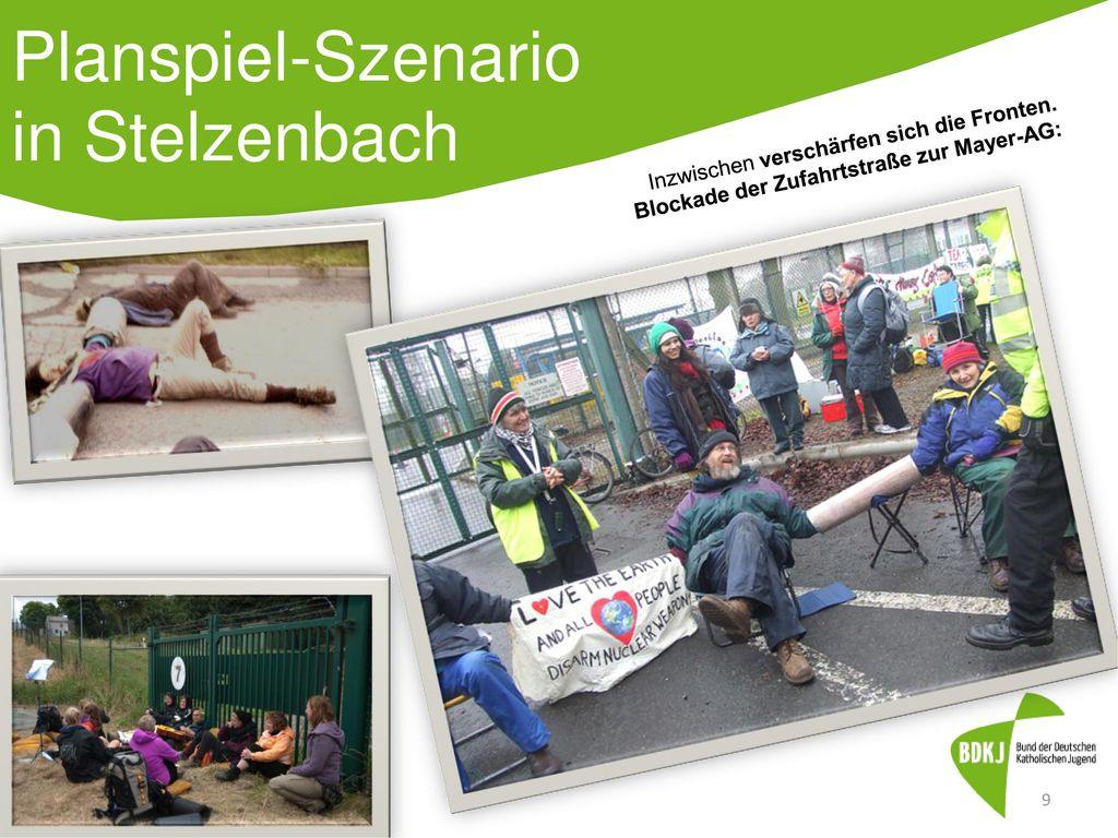 Planspiel-Szenario in Stelzenbach