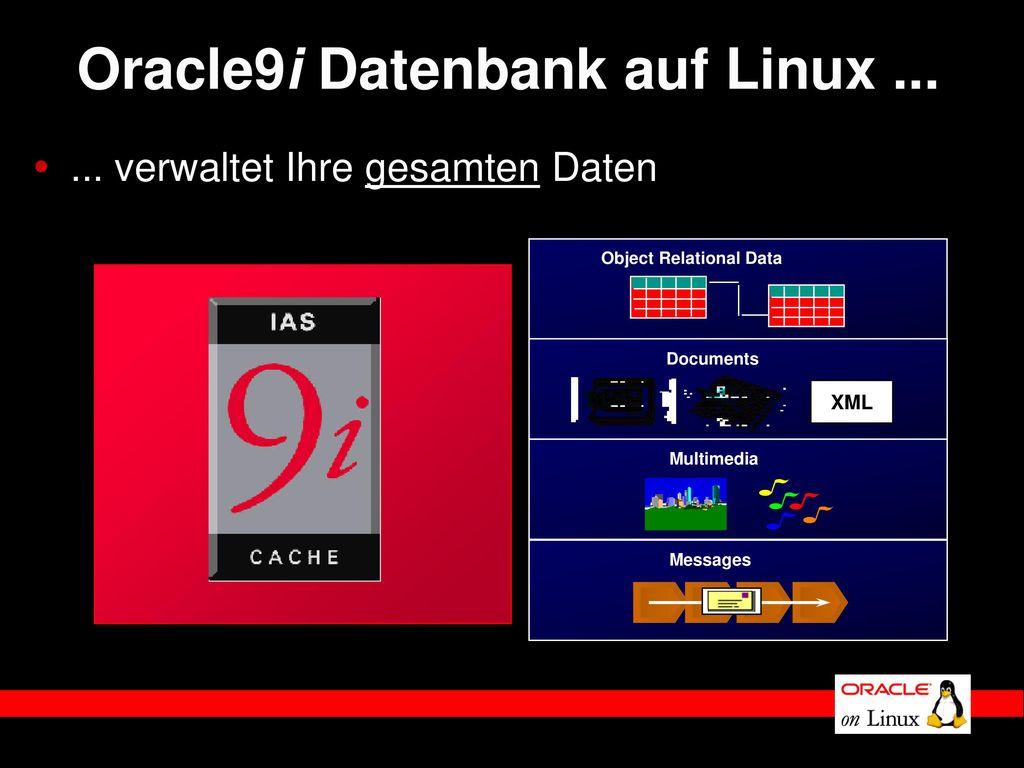 Oracle9i Datenbank auf Linux ...