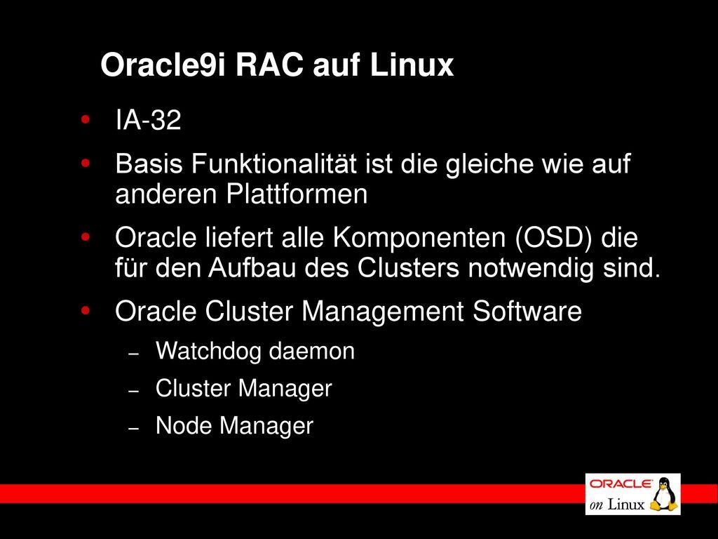 Oracle9i RAC auf Linux IA-32