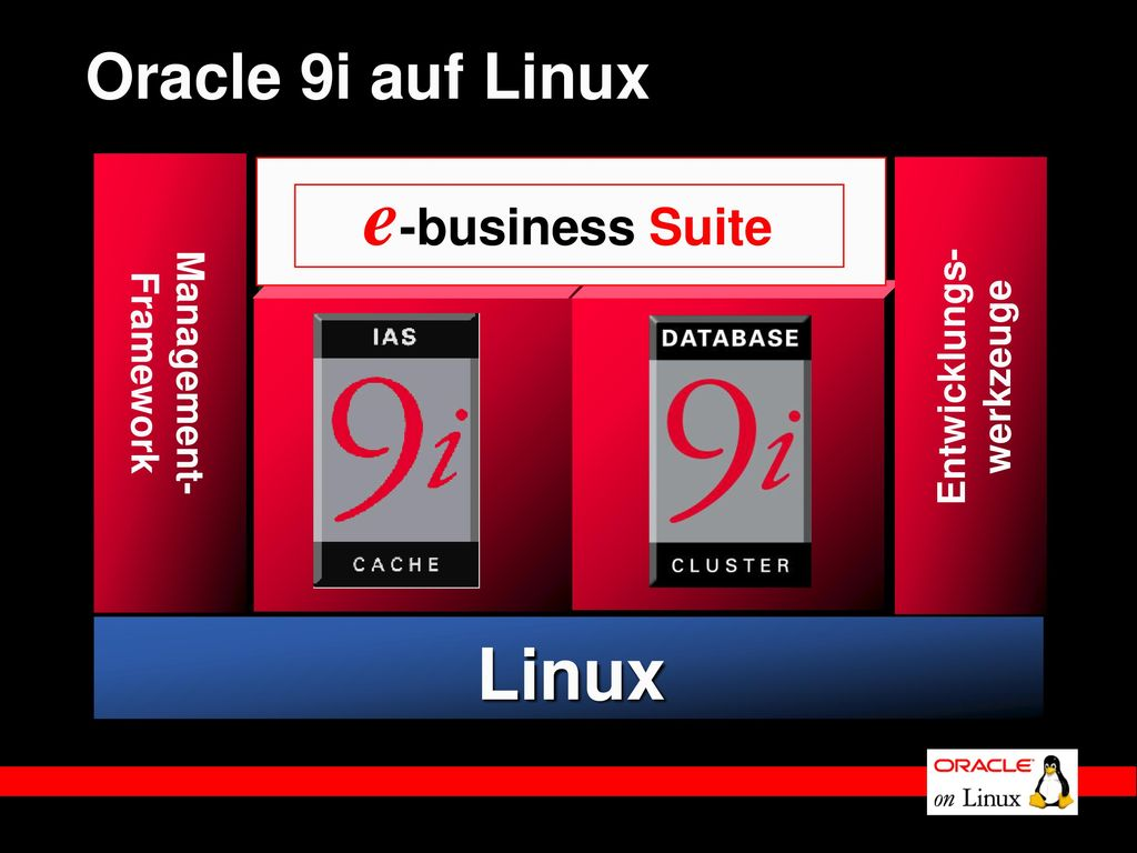 e-business Suite Linux Oracle 9i auf Linux Management- Entwicklungs-