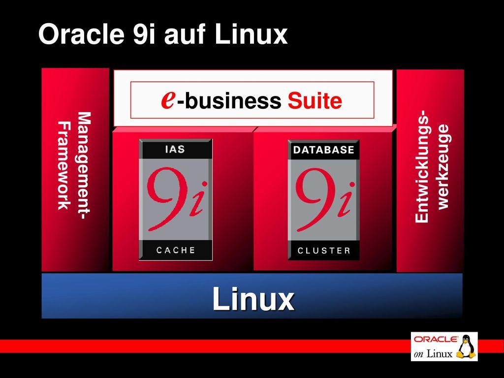 e-business Suite Linux Oracle 9i auf Linux Management- Entwicklungs-