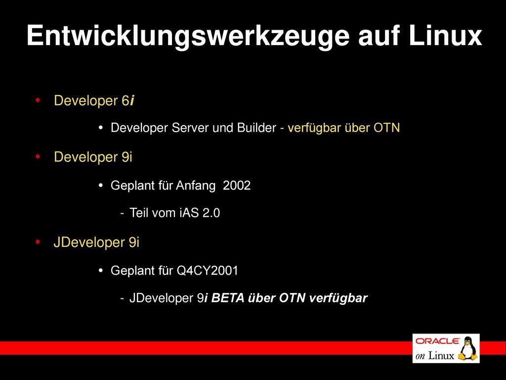 Entwicklungswerkzeuge auf Linux