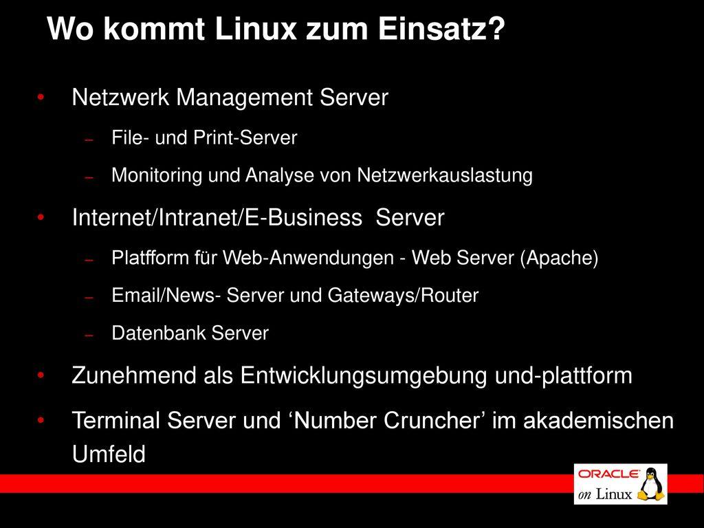 Wo kommt Linux zum Einsatz