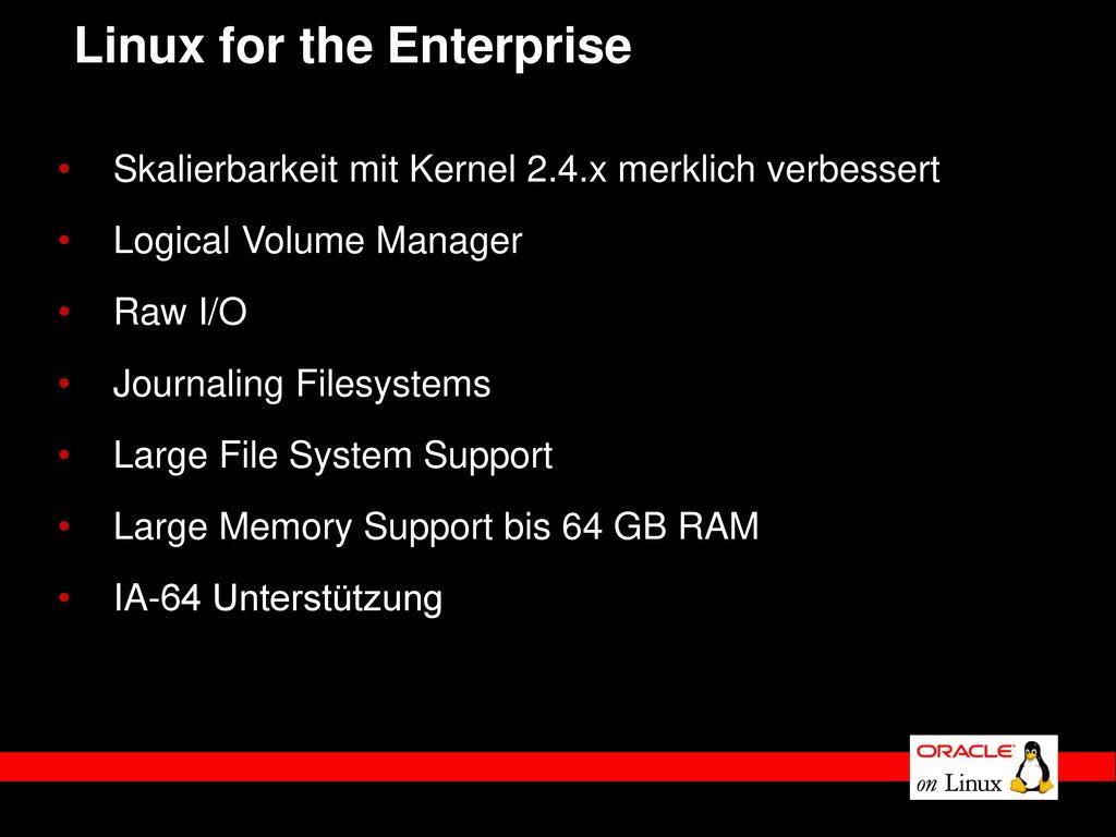 Linux for the Enterprise