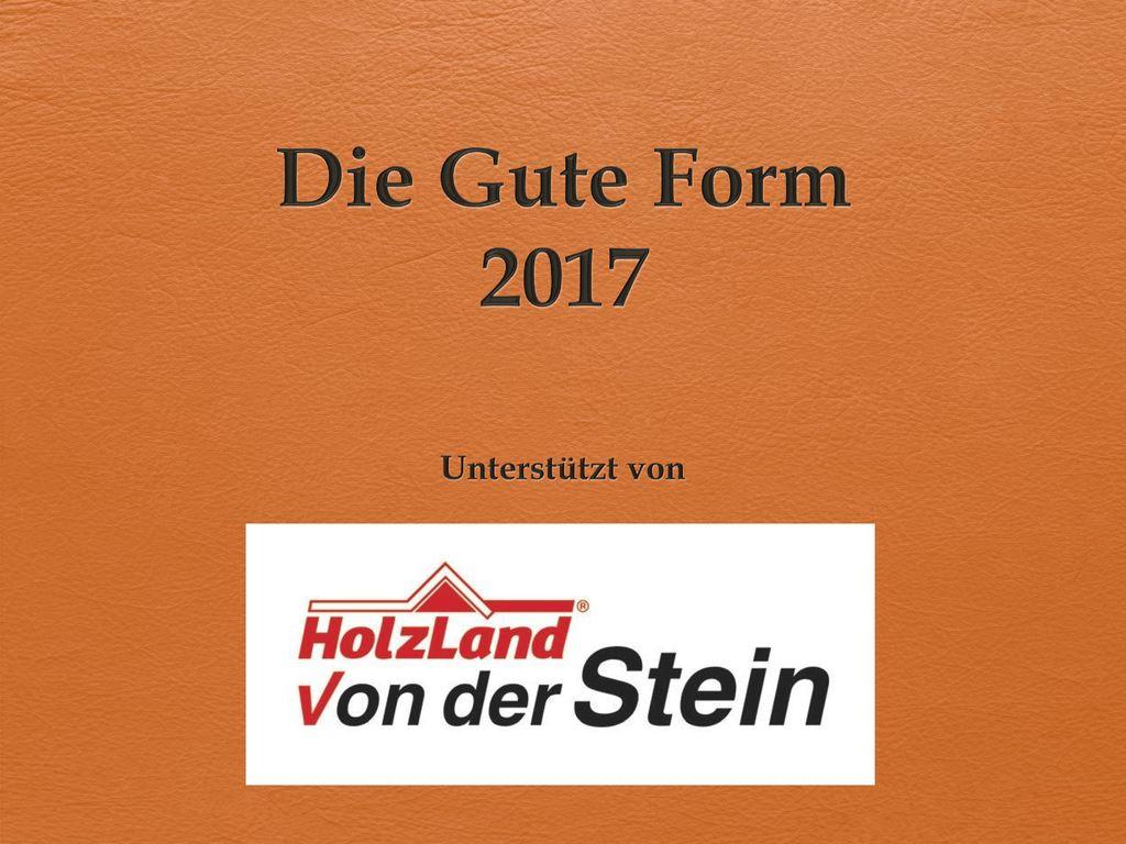 Die Gute Form 2017 Unterstützt von