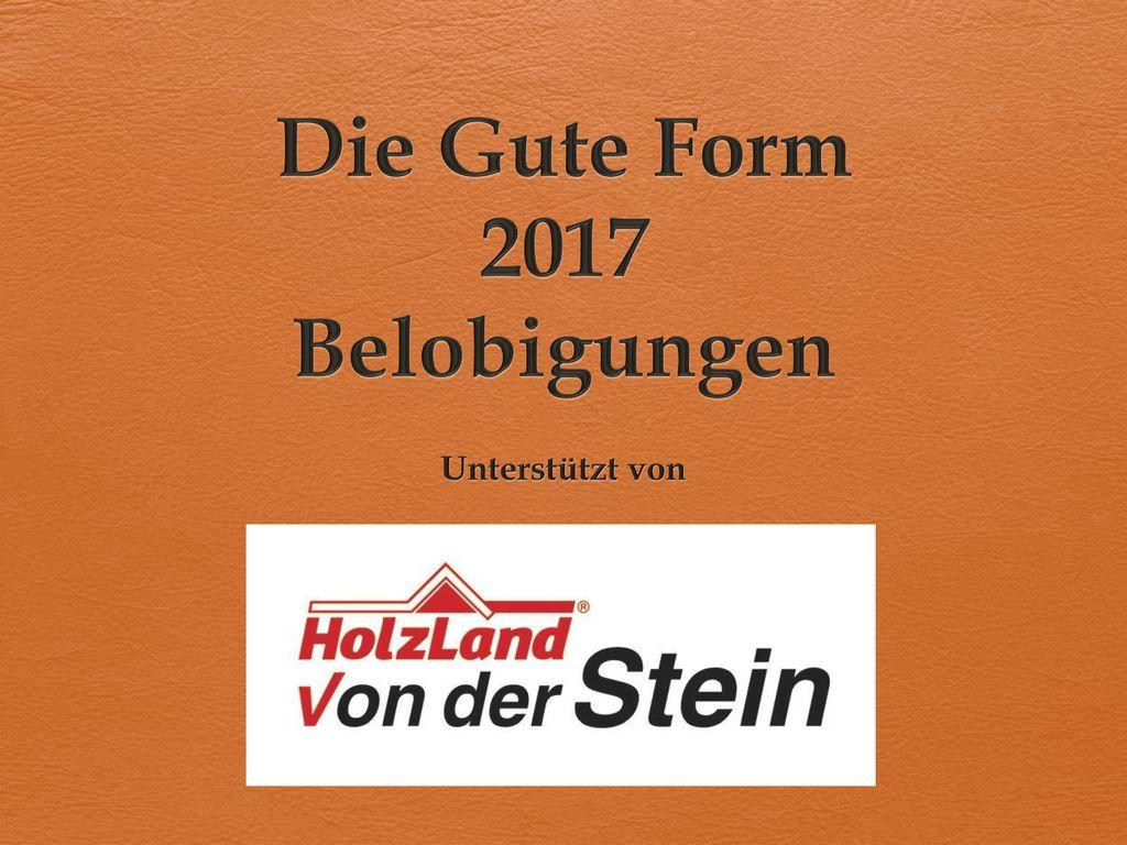 Die Gute Form 2017 Belobigungen