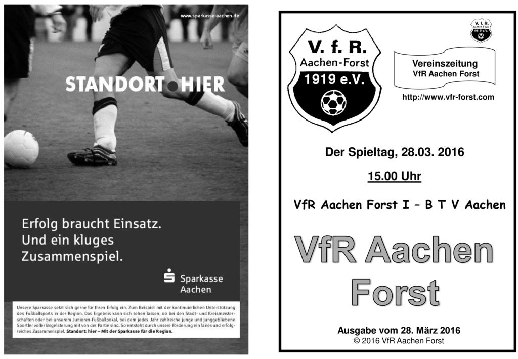 VfR Aachen Forst I – B T V Aachen