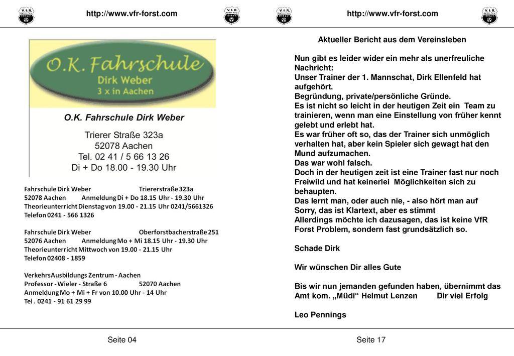 http://www.vfr-forst.com http://www.vfr-forst.com. Aktueller Bericht aus dem Vereinsleben.