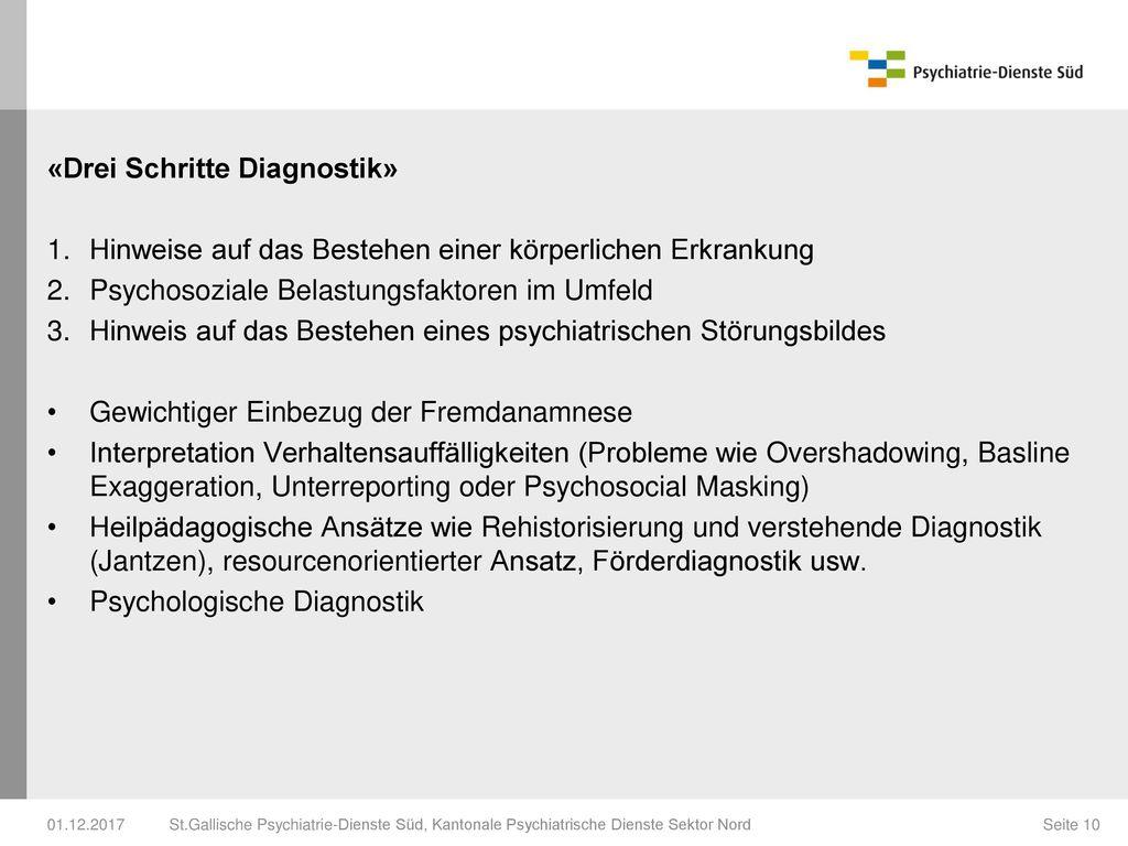 «Drei Schritte Diagnostik»