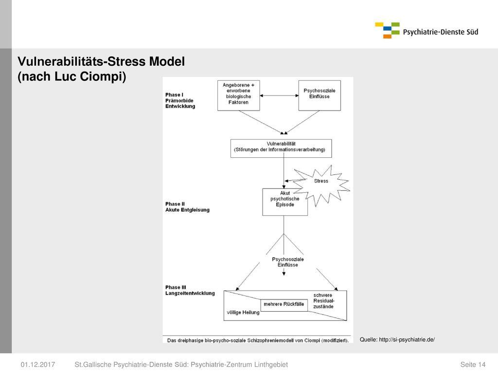 Vulnerabilitäts-Stress Model (nach Luc Ciompi)