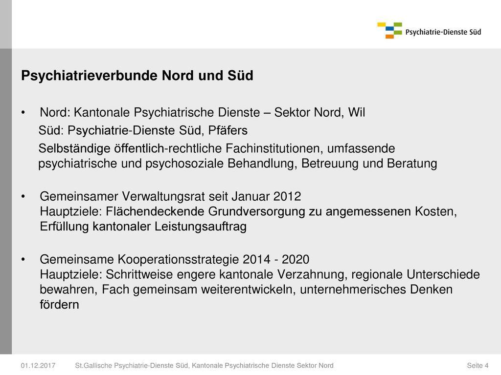 Psychiatrieverbunde Nord und Süd