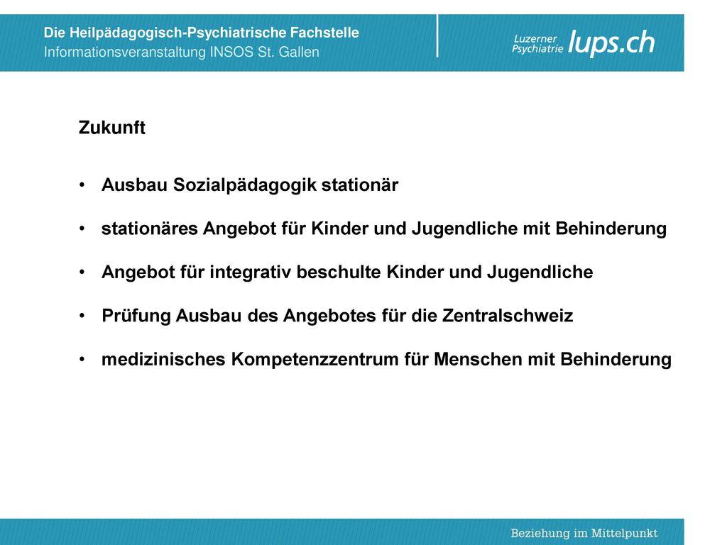 Zukunft Ausbau Sozialpädagogik stationär. stationäres Angebot für Kinder und Jugendliche mit Behinderung.