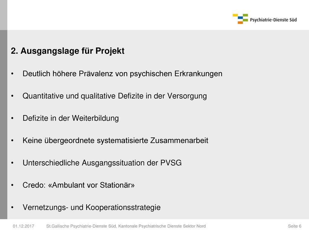 2. Ausgangslage für Projekt