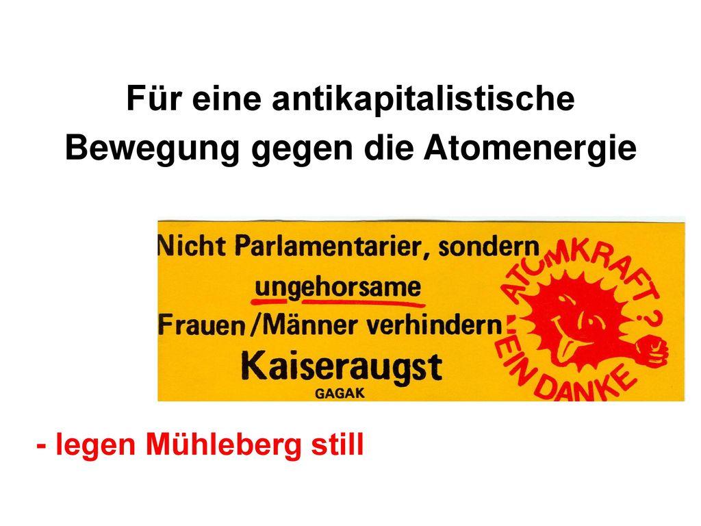 Für eine antikapitalistische Bewegung gegen die Atomenergie