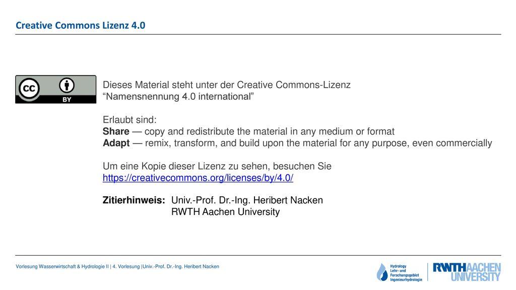 Creative Commons Lizenz 4.0