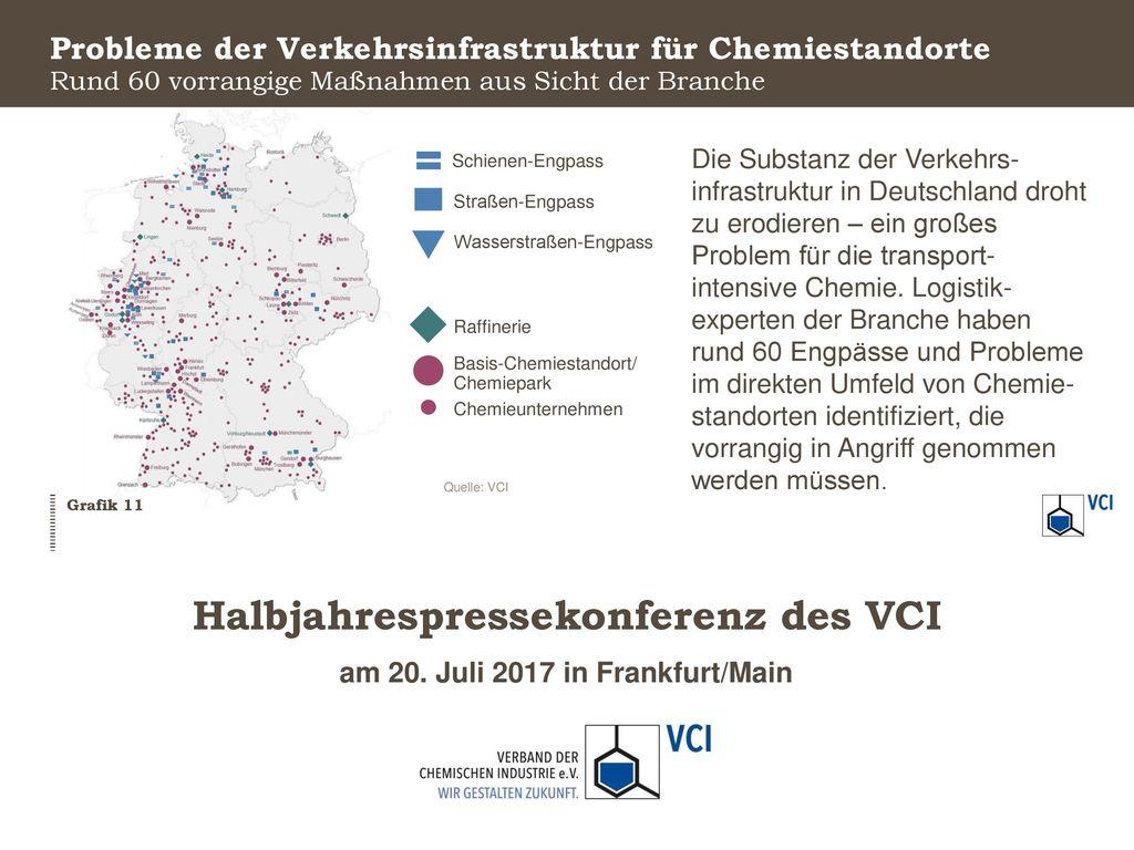 Probleme der Verkehrsinfrastruktur für Chemiestandorte