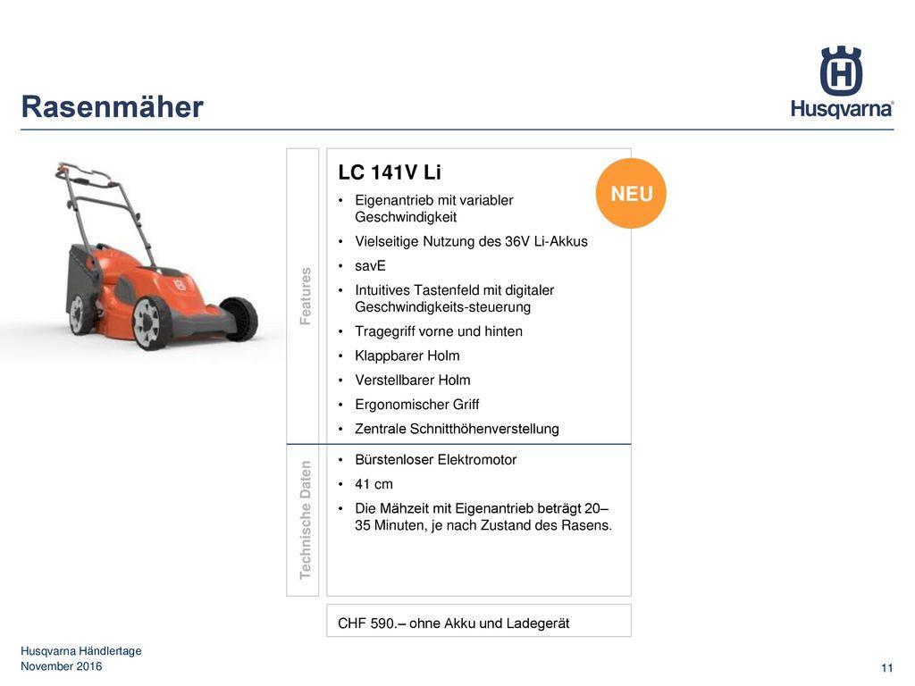 Rasenmäher LC 141V Li NEU Eigenantrieb mit variabler Geschwindigkeit