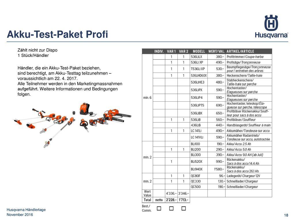 Akku-Test-Paket Profi