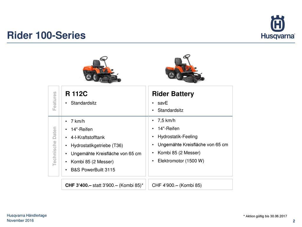 Rider 100-Series R 112C Rider Battery Standardsitz 7 km/h 14 -Reifen