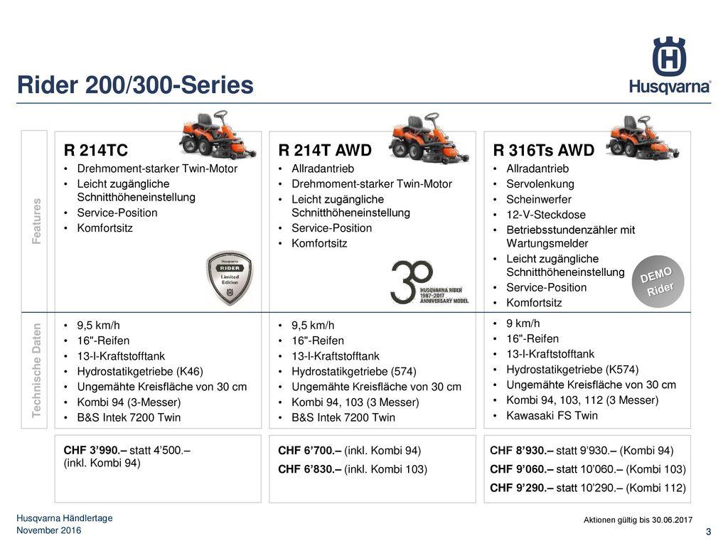 Rider 200/300-Series R 214TC R 214T AWD R 316Ts AWD