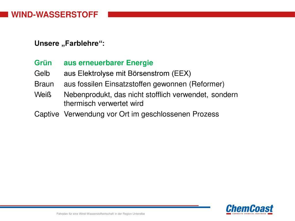 """WIND-WASSERSTOFF Unsere """"Farblehre : Grün aus erneuerbarer Energie"""