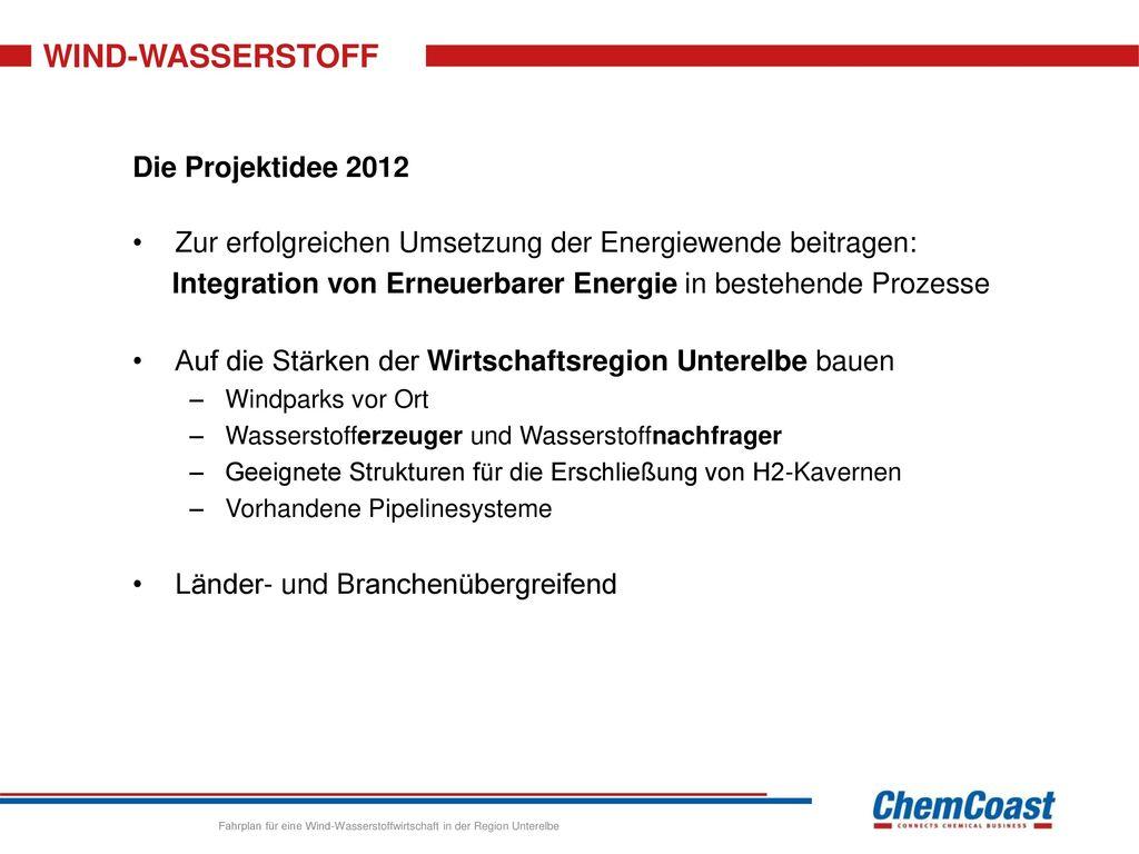 WIND-WASSERSTOFF Die Projektidee 2012