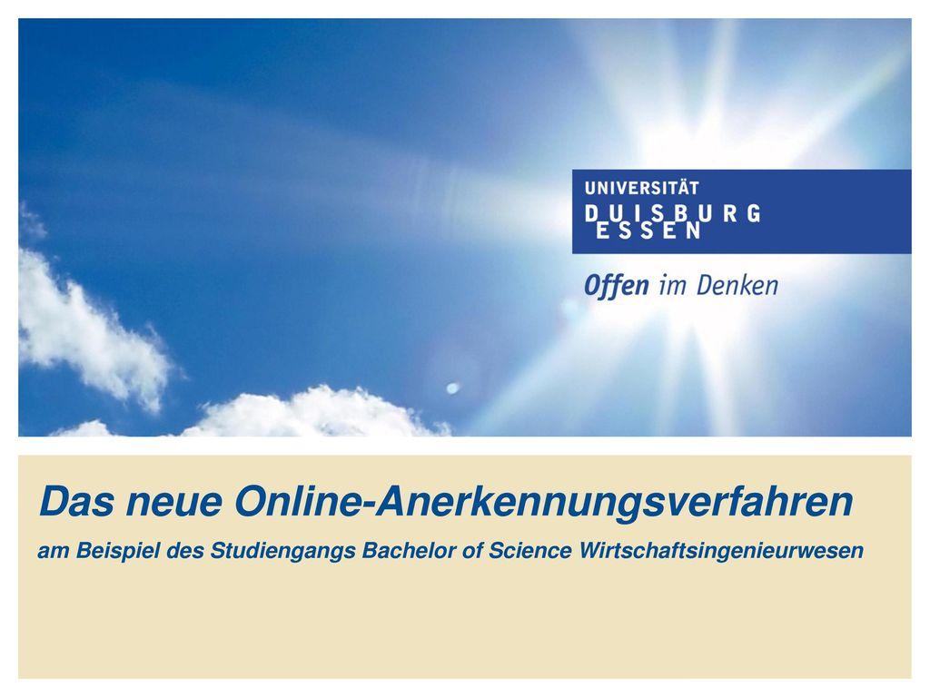 Das neue Online-Anerkennungsverfahren