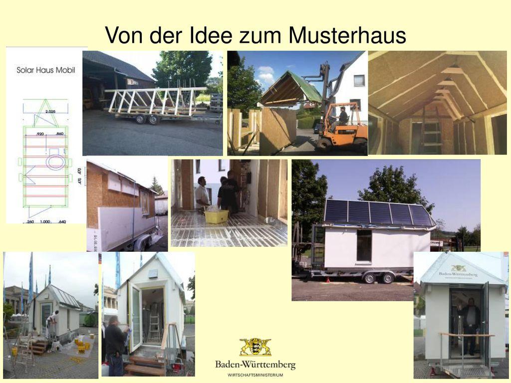 Von der Idee zum Musterhaus