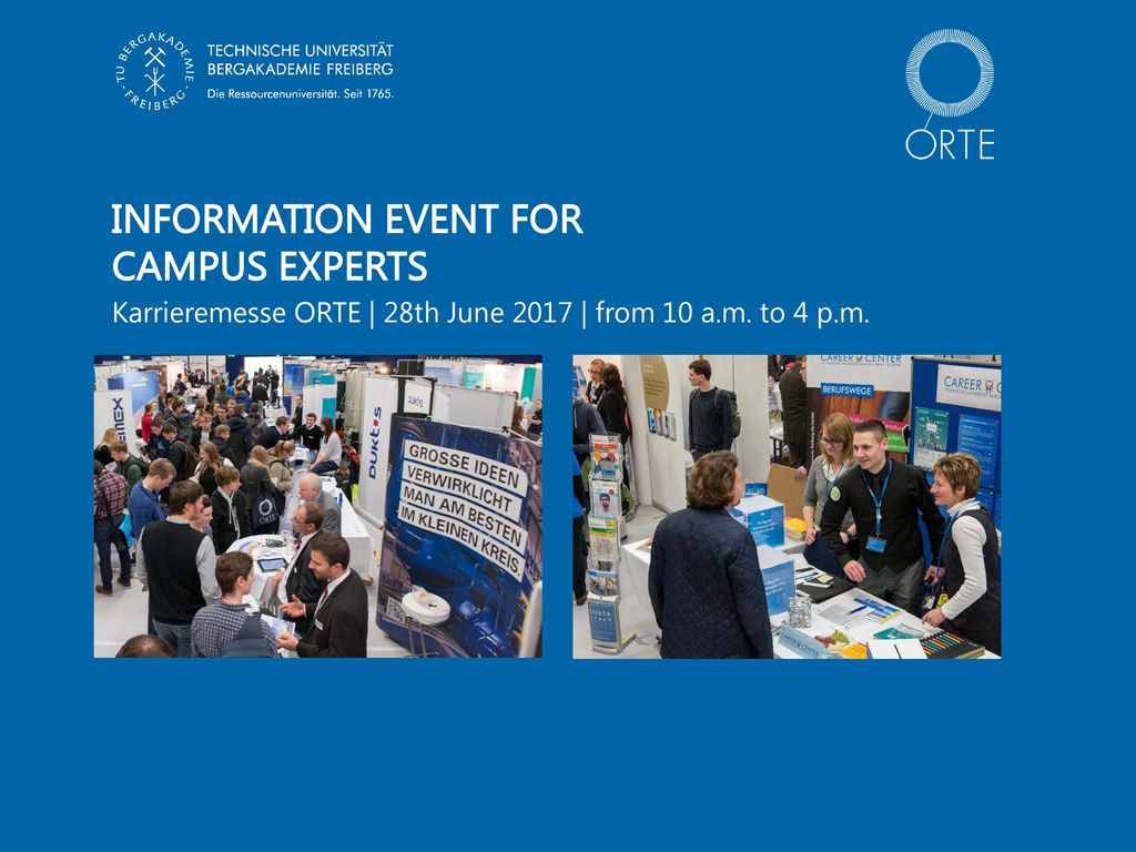 Information event for Campus EXPERTS