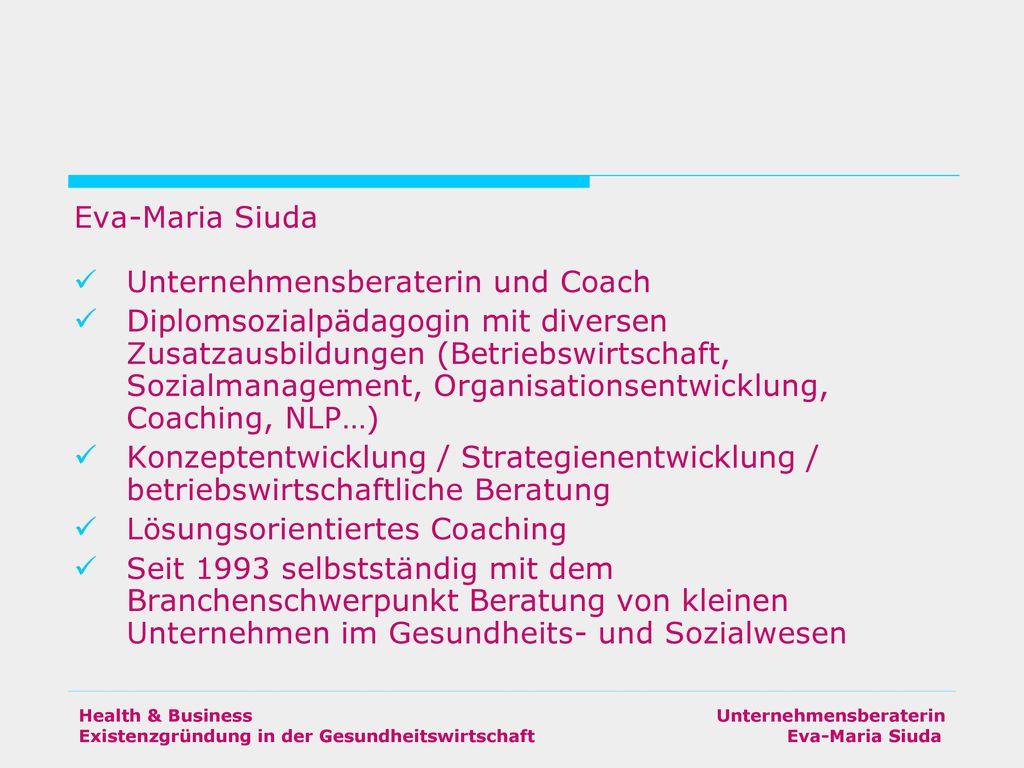 Unternehmensberaterin und Coach